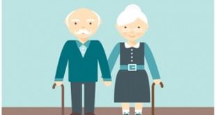 free-lovely-senior-couple-vector
